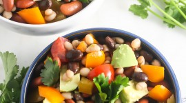 Salad With Beans Wallpaper For Mobile