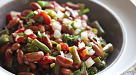 Salad With Beans Wallpaper For PC
