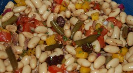 Salad With Beans Wallpaper Free