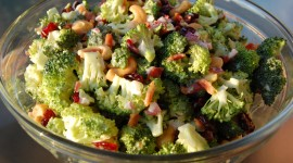 Salad With Broccoli Wallpaper For Desktop