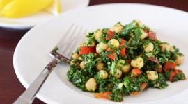 Salad With Chickpeas Desktop Wallpaper