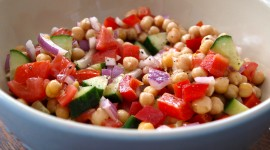 Salad With Chickpeas Desktop Wallpaper HD