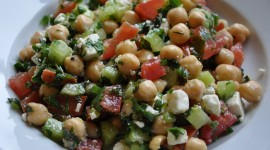 Salad With Chickpeas Photo Free#1