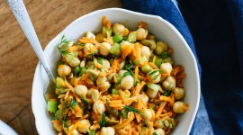 Salad With Chickpeas Wallpaper For Android
