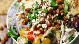 Salad With Chickpeas Wallpaper For Mobile