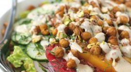 Salad With Chickpeas Wallpaper For Mobile#1