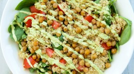 Salad With Chickpeas Wallpaper Full HD