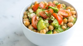 Salad With Chickpeas Wallpaper HQ