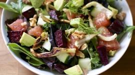 Salad With Grapefruit Desktop Wallpaper
