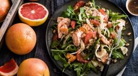 Salad With Grapefruit Wallpaper