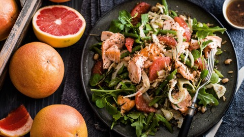 Salad With Grapefruit wallpapers high quality
