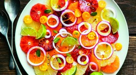 Salad With Grapefruit Wallpaper For IPhone