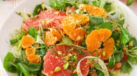 Salad With Grapefruit Wallpaper For Mobile