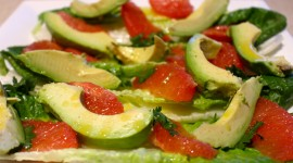 Salad With Grapefruit Wallpaper Free