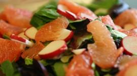 Salad With Grapefruit Wallpaper HQ