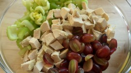 Salad With Grapes Wallpaper Free