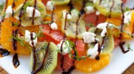 Salad With Kiwi Desktop Wallpaper