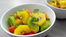 Salad With Kiwi Wallpaper