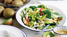 Salad With Kiwi Wallpaper For Desktop