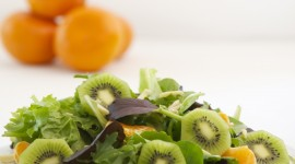Salad With Kiwi Wallpaper For Mobile