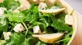 Salad With Pears Wallpaper