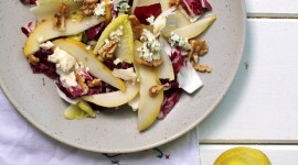 Salad With Pears Wallpaper For Android