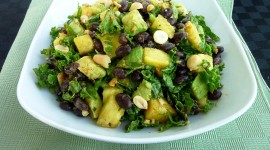 Salad With Pineapple Desktop Wallpaper HD