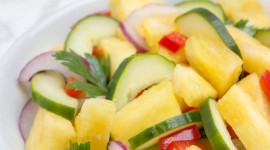 Salad With Pineapple Wallpaper For Mobile