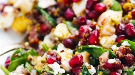 Salad With Pomegranate Wallpaper For IPhone