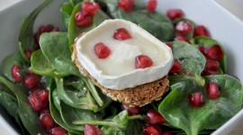Salad With Pomegranate Wallpaper Free
