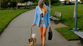 Walking The Dog Wallpaper