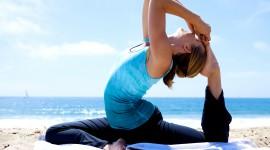 Yoga On The Beach Best Wallpaper