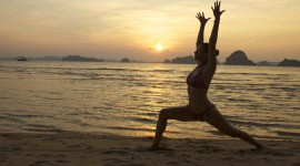 Yoga On The Beach Desktop Wallpaper