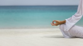 Yoga On The Beach Desktop Wallpaper HD