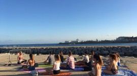 Yoga On The Beach Wallpaper 1080p