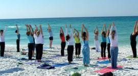 Yoga On The Beach Wallpaper