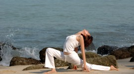Yoga On The Beach Wallpaper Download