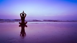 Yoga On The Beach Wallpaper Download Free