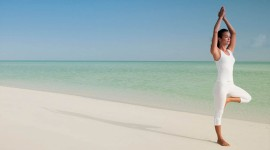 Yoga On The Beach Wallpaper For PC