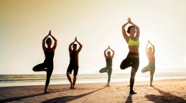 Yoga On The Beach Wallpaper Free
