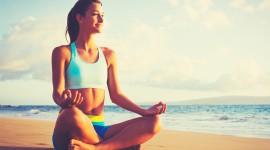 Yoga On The Beach Wallpaper HD