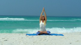 Yoga On The Beach Wallpaper HQ