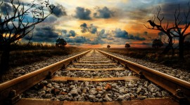 4K Train Rail Desktop Wallpaper For PC