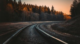 4K Train Rail Photo Free