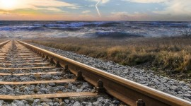 4K Train Rail Wallpaper For IPhone