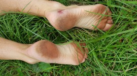 Barefoot On Grass Wallpaper Download