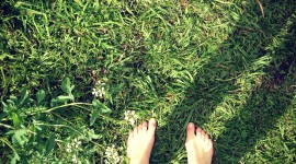 Barefoot On Grass Wallpaper For IPhone