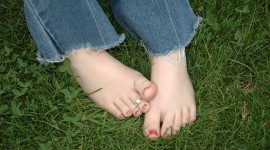 Barefoot On Grass Wallpaper Full HD