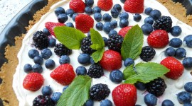 Curd Cream With Fruit Wallpaper Download Free