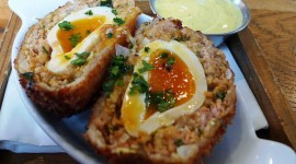 Fried Eggs In Bread High Quality Wallpaper